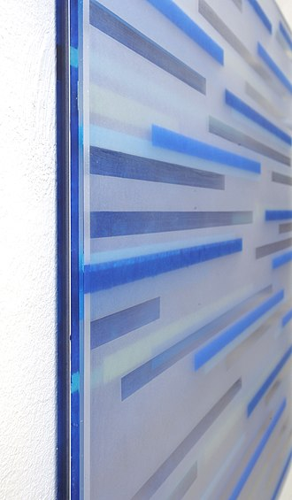 Achim Zeman - Image: Detail 2 Tafelbild blau ohne Titel Jahr 2012