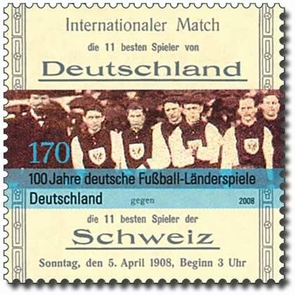 Deutsche Fußball-Länderspiele Briefmarke 2008
