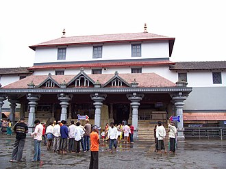 Dharmasthala Temple - The entrance of Dharmasthala Manjunatha Temple