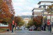 Dickson Street, Fayetteville, Arkansas in the fall