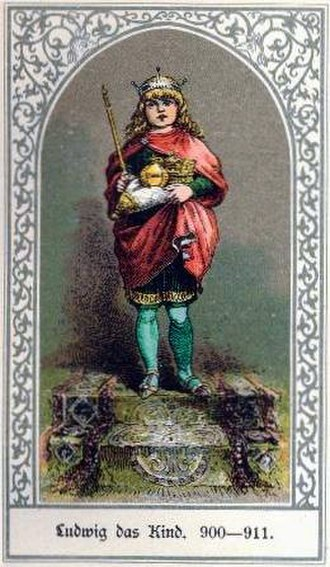 Louis the Child - Louis the Child (900-911).19th century illustration.