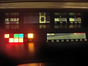 Fiat Tempra - Digital dashboard on SX models