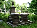 Diplomat and wife's tombstones, Warriston Cemetery - geograph.org.uk - 1405486.jpg