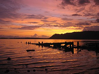 Golfito - Sunset over Golfito Bay