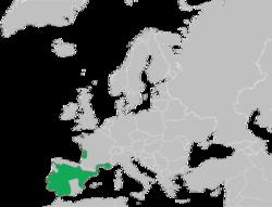 Distribución de Pelobates cultripes