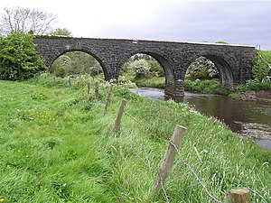 Londonderry and Enniskillen Railway - Disused bridge near Omagh over the Camowen River.