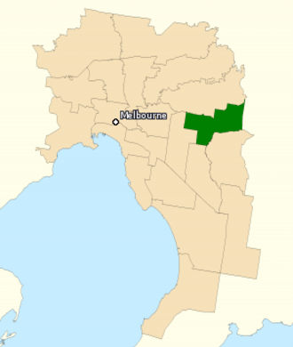 Division of Deakin - Division of Deakin in Victoria, as of the 2016 federal election.