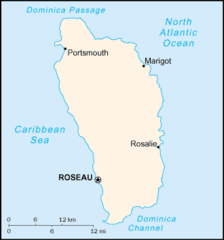 Mapa Dominiki