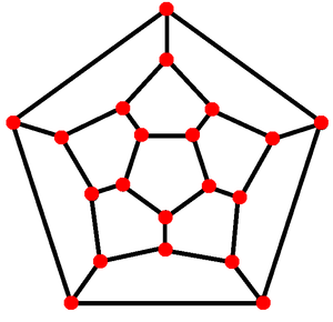 Planar graph - A Schlegel diagram of a regular dodecahedron, forming a planar graph from a convex polyhedron.