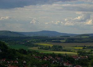 South Thuringia - The Dolmar near Kühndorf, Christes and Metzels in the county of Schmalkalden-Meiningen, between the Central Upland mountains of the Rhön and Thuringian Forest