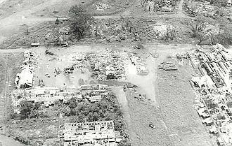 Battle of Dong Xoai - An aerial view of Đồng Xoài