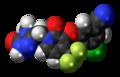 Doravirine molecule spacefill.png