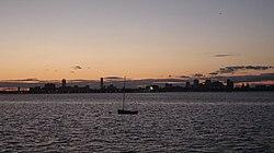 Dorchester Bay Boston Harbor sunset.jpg