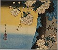 Double-flowered cherry, by Utagawa Hiroshige, Edo period, 1800s AD, print - Ishikawa Prefectural Museum of Traditional Arts and Crafts - Kanazawa, Japan - DSC09561.jpg