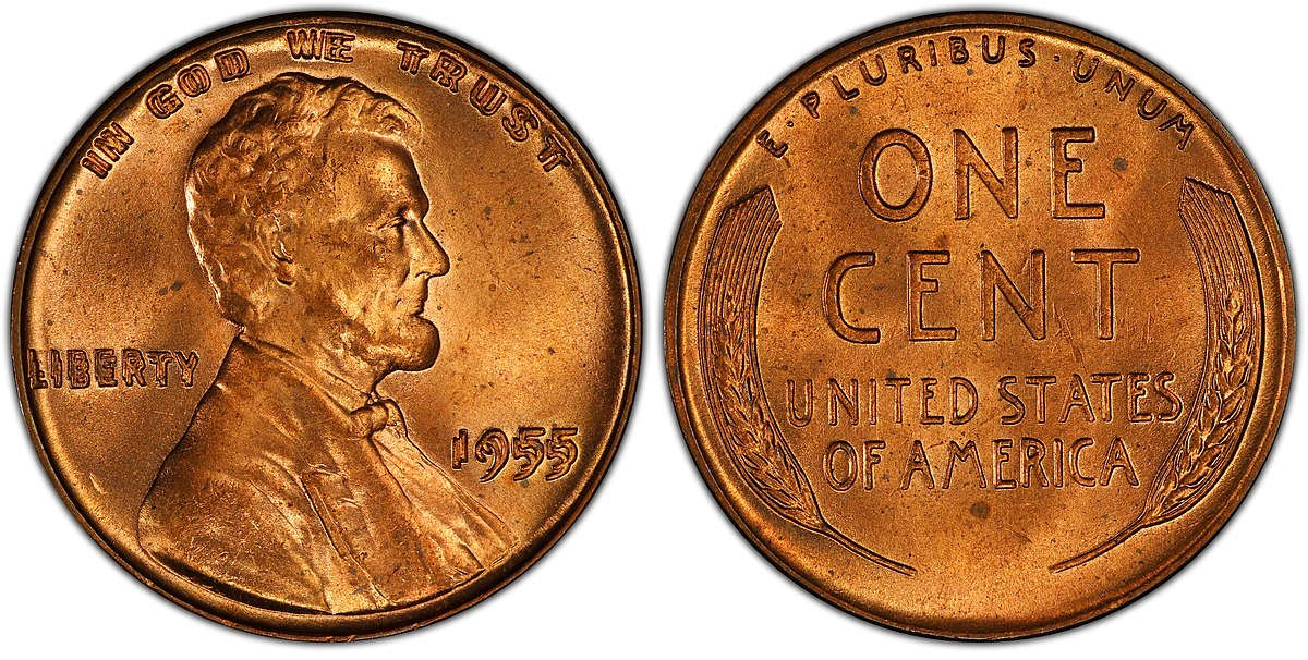1955 doubled die cent - Wikipedia