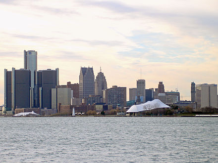 The Detroit skyline along the International Riverfront DowntownDetroit.jpg