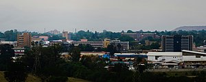 Newcastle, KwaZulu-Natal - Image: Downtown Newcastle City Skyline from Fort Amiel Museum