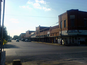 Farm to Market Road 157 - Downtown Venus, with FM 157 in the foreground