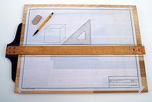 IPOTCH Forma de T Regla T-Square para Dibujo y Dise/ño Herramienta de Medici/ón Pl/ástica Los 45cm