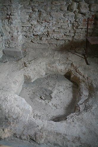 Dranda Cathedral - Image: Dranda Cathedral font