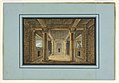 Drawing, Stage Design, Entrance to an Oriental Temple, 1815 (CH 18542997).jpg