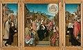 Drieluik met Maria met kind en heiligen (middenpaneel), de stichter met de heilige Martinus (binnenzijde linkervleugel), de stichteres met de heilige Cunera (binnenzijde rechtervleugel) en Rijksmuseum SK-A-3141.jpeg