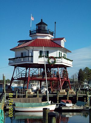 English: Drum Point Light, Solomons, Maryland,...