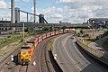 Duisburg ThyssenKrupp loc 602 werkverkeer verlaat het terrein (30411993175).jpg