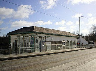 Dundrum, Dublin - The original Dundrum station built by William Dargan in 1854 behind the modern Luas stop.