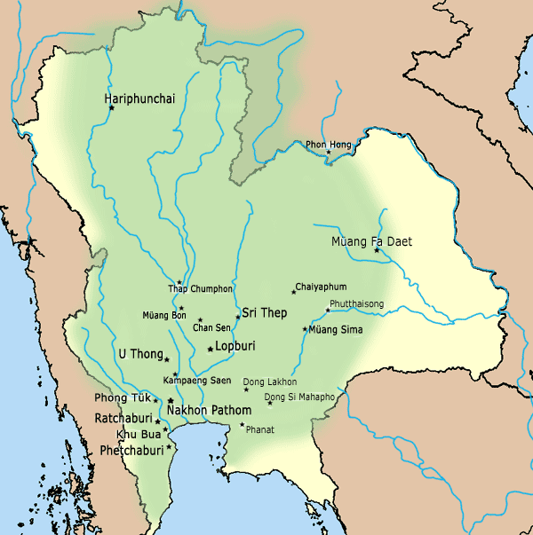 DvaravatiMapThailand
