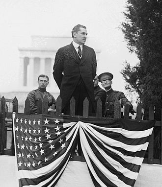 Edwin T. Meredith - Secretary Meredith speaking at an Arbor Day event, circa 1920.