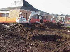 Agriculture Street Landfill - EPA excavation during cleanup of the landfill site.