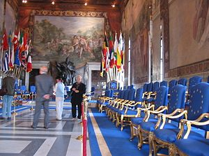 European Union law - The Treaty of Rome 1957, signed in Musei Capitolini was the first international treaty that envisaged social, economic and political integration, within limited fields, for nation-states.