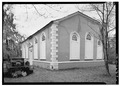 EXTERIOR, VIEW FROM SOUTHEAST CORNER - St. James' Protestant Episcopal Church, Goose Creek, Berkeley County, SC HABS SC,8-GOOCR,1-9.tif
