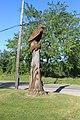 Eagle Chainsaw Carving, 27900 Pontiac Trail, Lyon Township, Michigan - panoramio.jpg