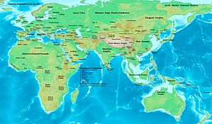 2nd century BC - Eastern hemisphere at the beginning of the 2nd century BC.