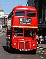 East London Routemaster bus RM652 (WLT 652) heritage route 15 Whitehall 5 August 2007 (1).jpg