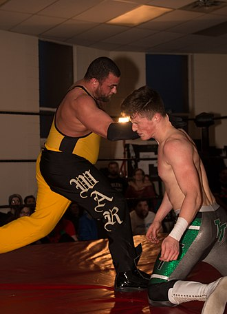 Eddie Kingston - Kingston executing a Backfist to the Future against Tyler Thomas