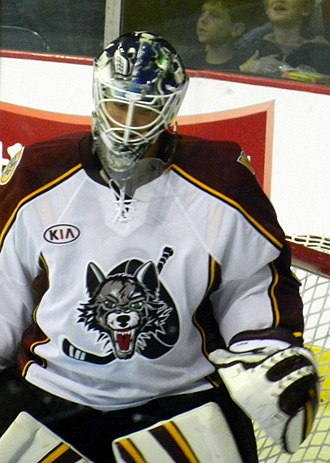 Eddie Läck - Lack playing for the Chicago Wolves in 2012.