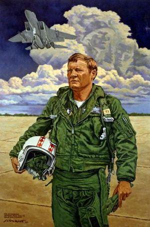 Edward L. Hubbard - John Witt's life-sized portrait of Hubbard that hangs in the Pentagon.