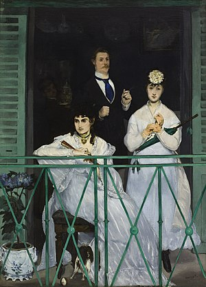 Western painting - Édouard Manet's The Balcony (1868)