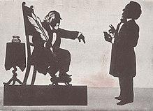 Hanslick und WagnerSchattenbild von Otto Böhler (Quelle: Wikimedia)