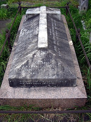 Edward Hodge - Funerary monument, Brompton Cemetery, London