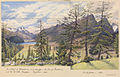 Edward Gennys Fanshawe, The villages of Silvaplana and Campfer, the Lake of Silvaplana and the Piz della Margna, Engadine (with) The Piz Julier, 1880 (Switzerland).jpg