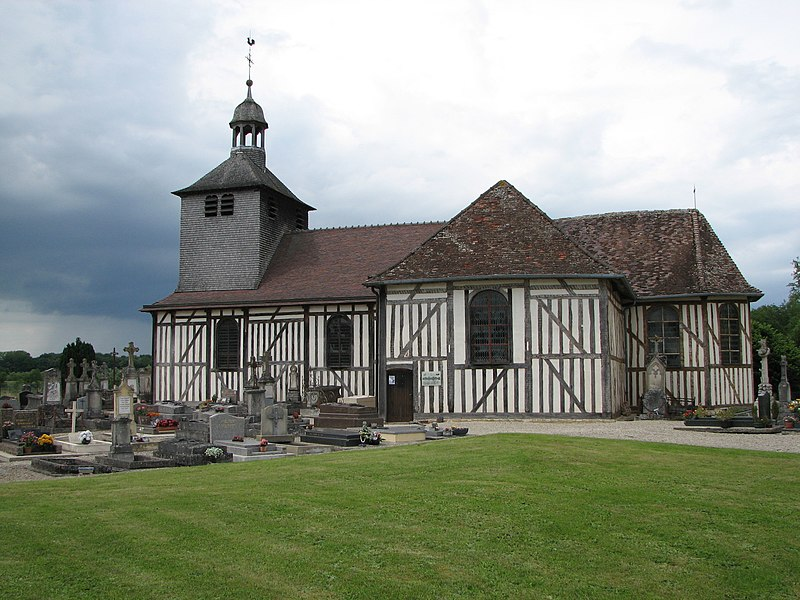 St. Quentin church, in Mathaux in the departement of Aube, built in 1761.