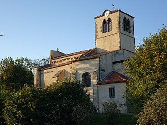 Geographical midpoint of Europe - Church in Saint-André-le-Coq