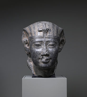 Ptolemy II Philadelphus - This granite statue depicts Ptolemy II in the traditional canon of ancient Egyptian art. Walters Art Museum, Baltimore.