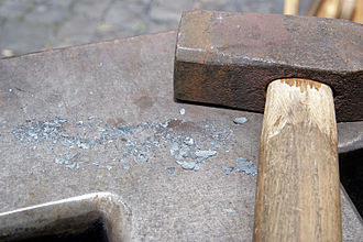 Mill scale - Mill scale on an anvil