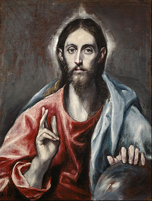El Greco (Domenikos Theotokopoulos) - Christ Blessing ('The Saviour of the World') - Google Art Project.jpg