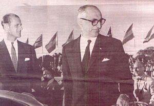 Argentina–United Kingdom relations - Prince Philip, Duke of Edinburgh and President Arturo Frondizi in 1962.